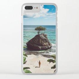 Bingin Beach Clear iPhone Case