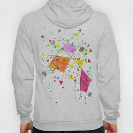 Abstract Arrows and Lines Watercolour Expressionist Art Hoody