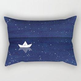 Zen sailing, ocean, stars Rectangular Pillow