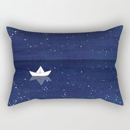 Zen sailing, ocean, stars Rectangular Pillow