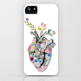 Corazón floral iPhone Case