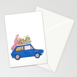 Blue Vintage car Stationery Cards