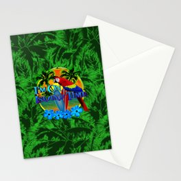 Island Time Surfing Palm Trees Stationery Cards