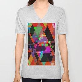 Decor Geometric triangles Unisex V-Neck