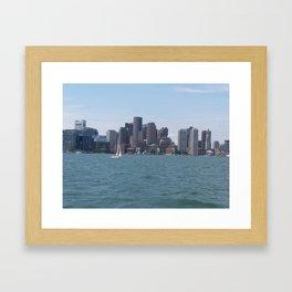 Boston Harbor in the Summer Framed Art Print