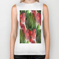 vegetables Biker Tanks featuring Healthy Vegetables by Art-Motiva