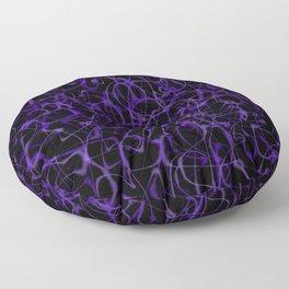 Ultra Violet Purple Wisps Floor Pillow