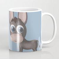 donkey Mugs featuring DONKEY by Ainaragm