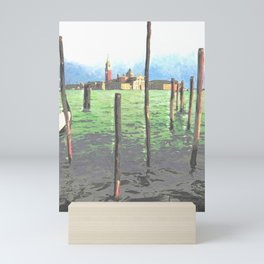 Gondola Moorings Mini Art Print