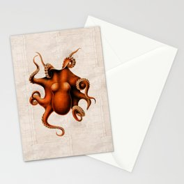 Here There Be Monsters Stationery Cards