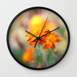 Marigolds In The Fall Wall Clock