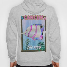 cancun mexico travel poster Hoody