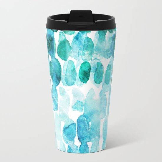 Abstract Ocean Dreams Metal Travel Mug