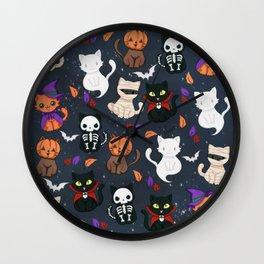 Kitty - Halloween Wall Clock