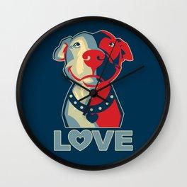 Pitbull - Love Wall Clock