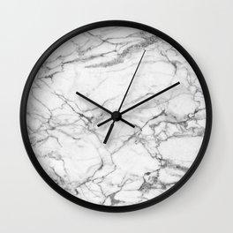 White Marble Stone Wall Clock