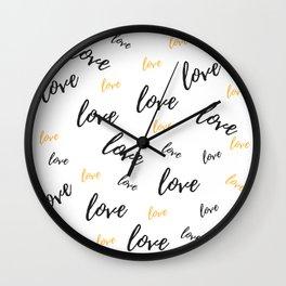 Multiple Love Wall Clock