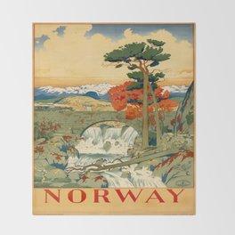 Vintage poster - Norway Throw Blanket