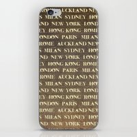 cities iPhone & iPod Skins featuring Cities by Linde Townsend