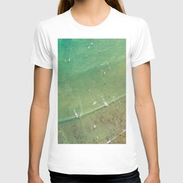Drone Shot of Surfers from above T-shirt