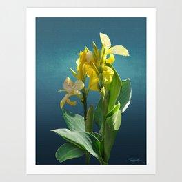 Spade's Yellow Canna Lily Art Print