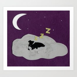 Goodnight, Doogie Art Print