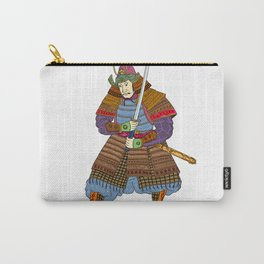 Vintage Samurai Katana Woodblock Print Carry-All Pouch