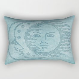 Sun Moon And Stars Batik Rectangular Pillow