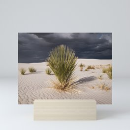 Yucca in White Sands National Monument Mini Art Print