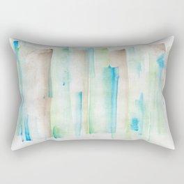 180713 Watercolor Play 1| Watercolor Brush Strokes Rectangular Pillow