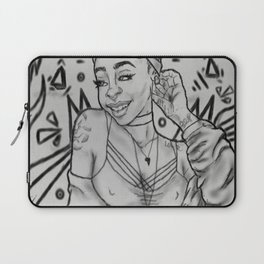 Girlll, AFRiCA! coloring book page/ black&white version Laptop Sleeve