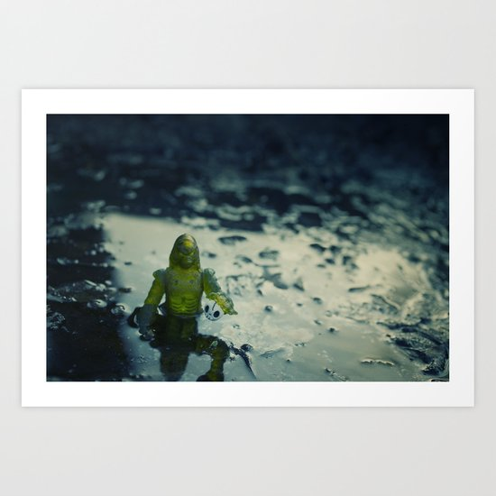 Did you leave this down here Art Print
