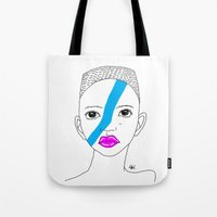 stripe Tote Bags featuring Stripe by ARAJUA