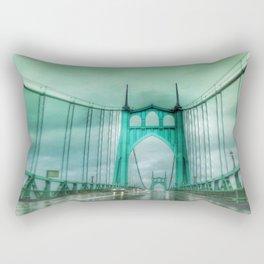 St John's Bridge Portland Oregon Rectangular Pillow
