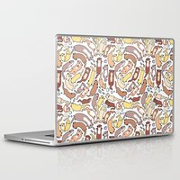 otters Laptop & iPad Skins featuring Adorable Otter Swirl by KiraKiraDoodles
