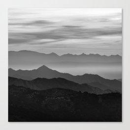 Mountains mist. BN Canvas Print