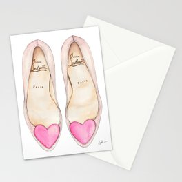 PINK HEART PUMPS Stationery Cards