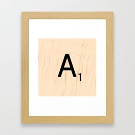 Letter A Scrabble Art Framed Art Print