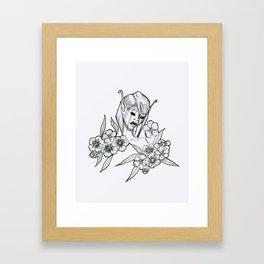 Phlox Pixie - White version Framed Art Print