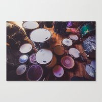 drums Canvas Prints featuring drums by jered scott