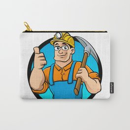 miner hold the pick axe Carry-All Pouch