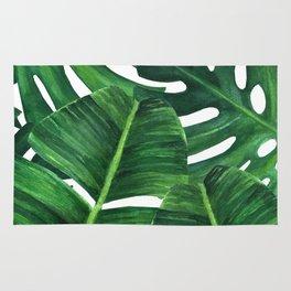 Tropical palm art Rug