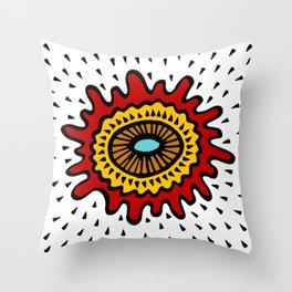 Splashed Mandala Throw Pillow