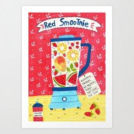 Red Smoothie Art Print