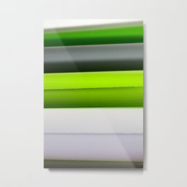 Film Rolls – Green, Grey And White Metal Print
