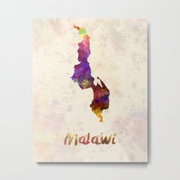 Malawi in watercolor Metal Print