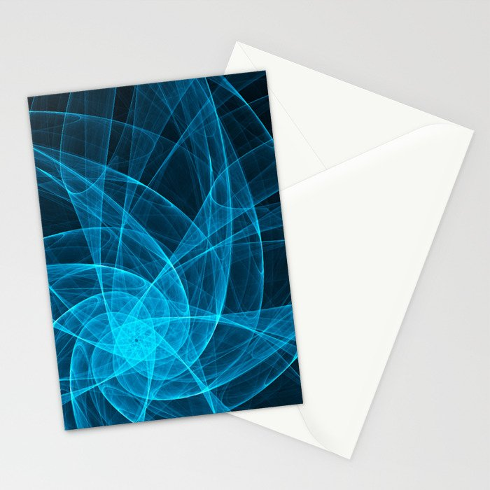 Tulles Star Computer Art in Blue Stationery Cards