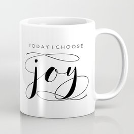 Today I Choose Joy wood sign, farmhouse decor, rustic, vintage, Bible verse, home and living Coffee Mug