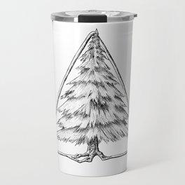 Tree in Triangle Travel Mug