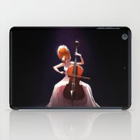 cello iPad Cases featuring The Cello Player by Joelle Murray